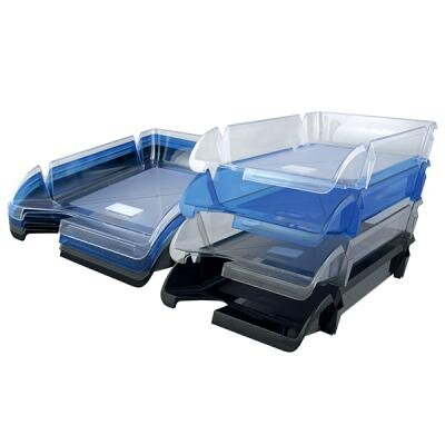 Лоток для бумаг Delta by Axent horizontal, charcoal-grey (D4001)